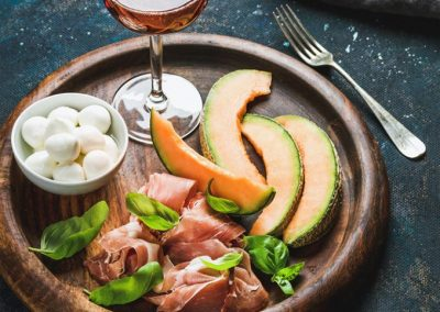 Rose and antipasto